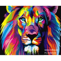 Maalimine numbrite järgi Lõvi, 30x40