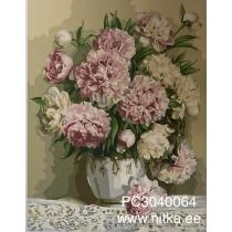 """Maalimine numbrite järgi """"Lilled vaasis"""", 30x40"""