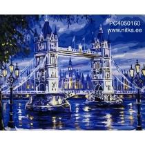 """Maalimine numbrite järgi """"London kuuvalgel"""", 40x50"""