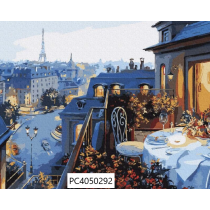 Maalimine numbrite järgi-Õhtusöök Pariisis, 40x50