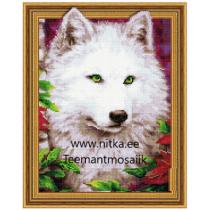 Teemanmosaiik-Valge hunt, 40x50