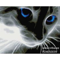 Teemant mosaiik-Siinised silmad, 40x50