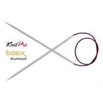 KnitPro BASIX ALUMINIUM ringvardad, 100 cm