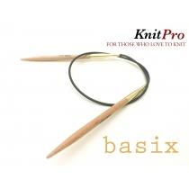 KnitPro BASIX BIRCH ringvardad, 40 cm