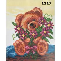 "Kanvaa pildiga ""Karu lilledega"", 24x30 cm"