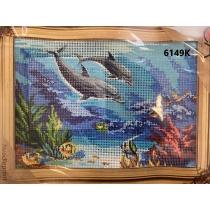 "Tikkimiskomplekt ""Delfiinid"", 22x30cm"